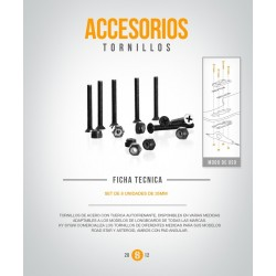 Tornillos 8 de 38 mm (Set 8)